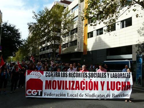 26 setembre 2012 Jornada de lluita a BCN