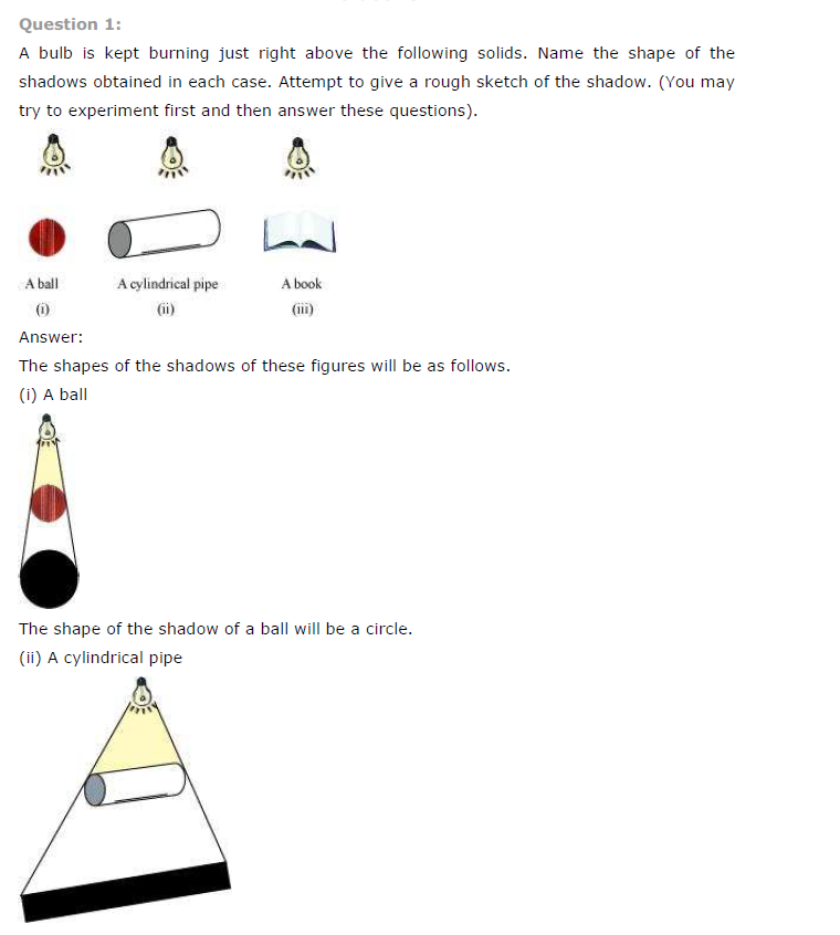 NCERT Class 7th Maths Chapter 15 Visualising Solid Shapes Exercise 15.4