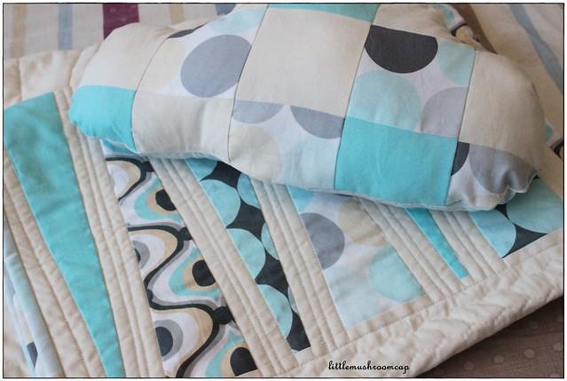 Modern Baby Quilt Blue-Grey 2