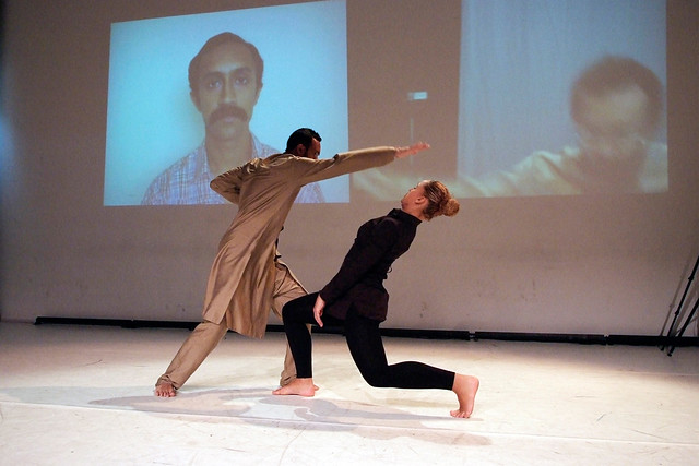 Hetain Patel and Yuya Rao in rehearsals for Be Like Water. © Jean van Lingen
