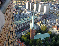 Ovanför Klarakvarteren / ...view over Stockholm from hot air balloon