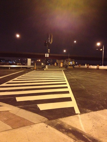 New crosswalk 11th st bridge