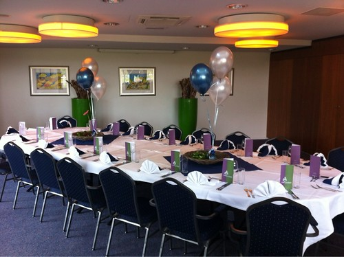 Tafeldecoratie 3ballonnen Wapen van Marion Oostvoorne