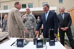 Secretary of Defense tours RDECOM contributions to energy security