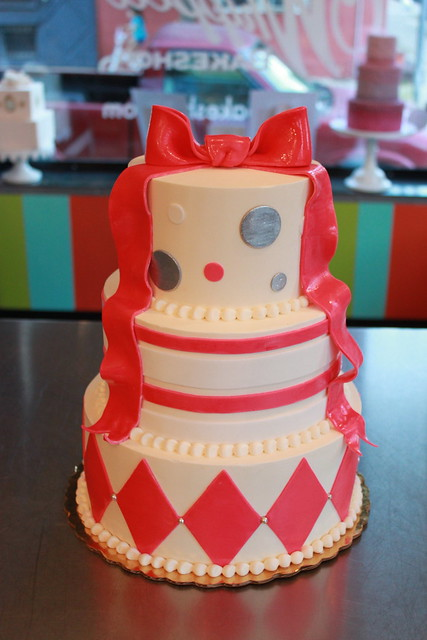 Pretty Bow Bat Mitzvah Cake