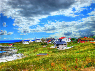 Norwegian countryside in HDR