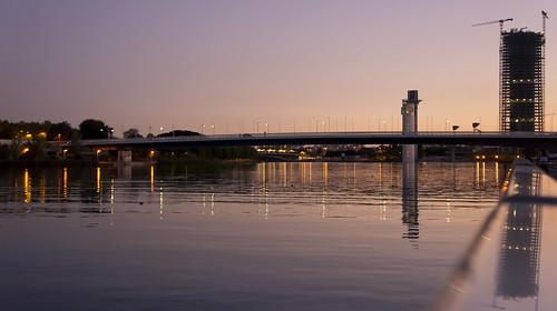 Vistas desde la pasarela del río by alexwing2000