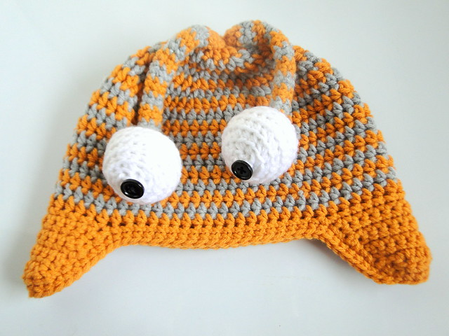 googley eyed monster hat
