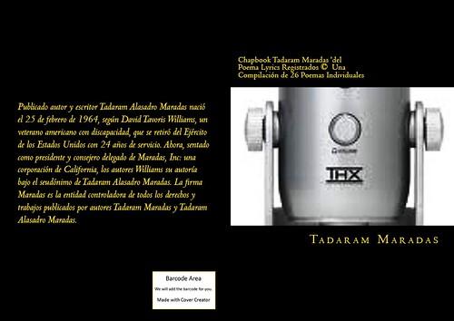 Chapbook Tadaram Maradas 'del Poema Lyrics Registrados © Una Compilación de 26 Poemas Individuales by Tadaram Alasadro Maradas