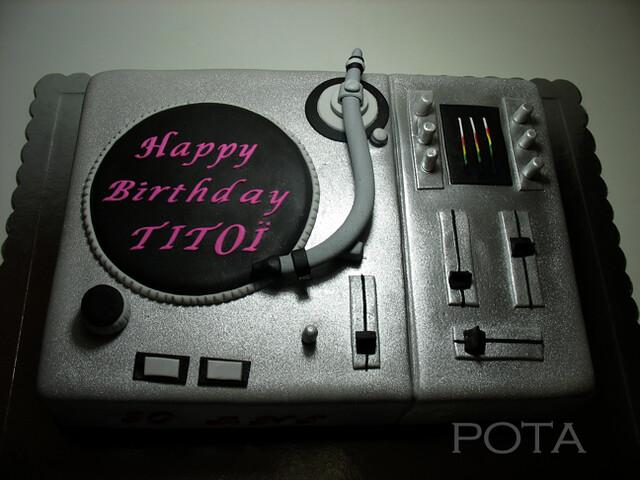 Gâteau Platine DJ - Torta za DJ-a - dj cake