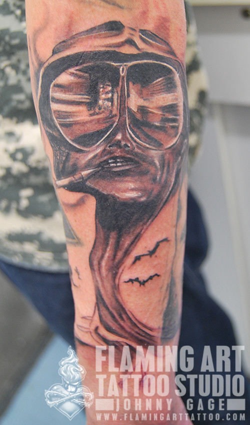 This Is Bat Country Tattoo