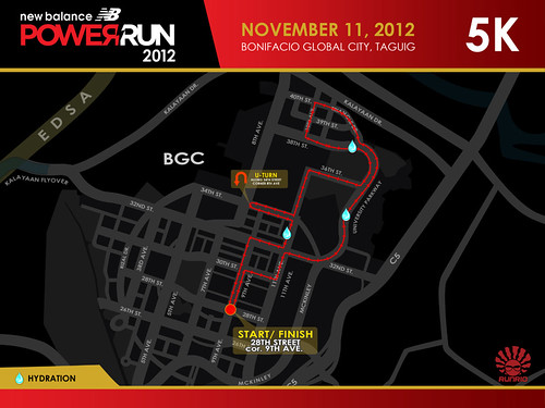 LowNB Power Run 2012 5K Race Route