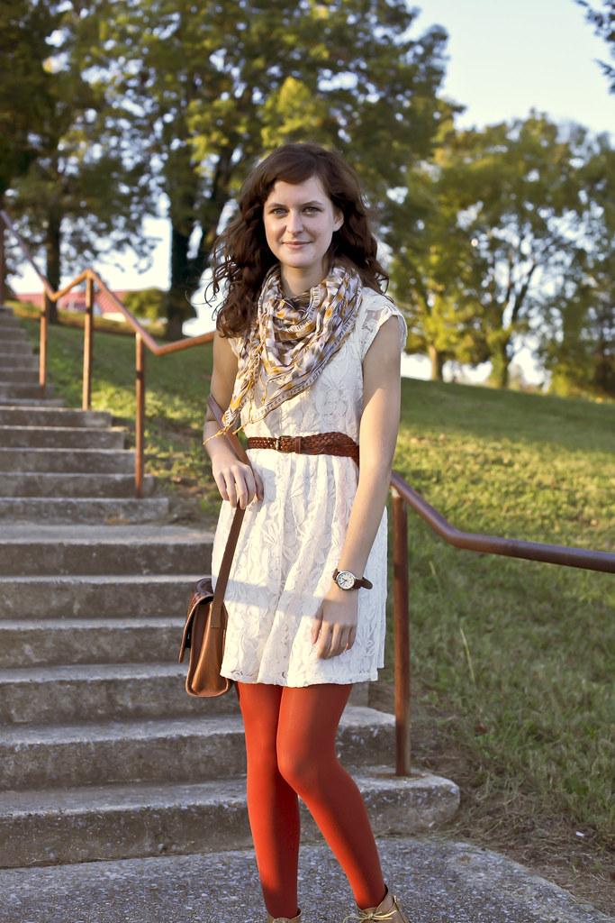 Cosette Belted Dress in Burnt Orange - MGP