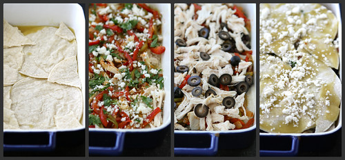Mexican Chicken Taco Casserole with Olives, Peppers & Queso Fresco Cheese Recipe by Cookin' Canuck