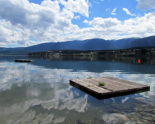 dock lake scape clouds reflection water two floating float mountain smooth blue windermere challengewinner afloat nature tp20121129 fav 10wins calm rural stuckonandromeda invermere columbiavalley bc britishcolumbia canada outdoor andromeda50bestofthebest 12wins 9fav