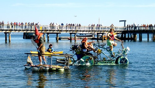 Port Townsend Kinetic Sculpture Race water test 10-6-12