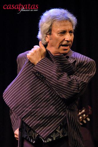 José Carmona en nuestro tablao. Foto: Martín Guerrero