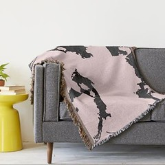 This is a woven throw blanket part of my Pink Modern Marble collection. Soooo cozy! You can find it @zazzle #interiors #style