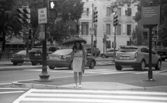 Smiling Pedestrian at Dupont Circle