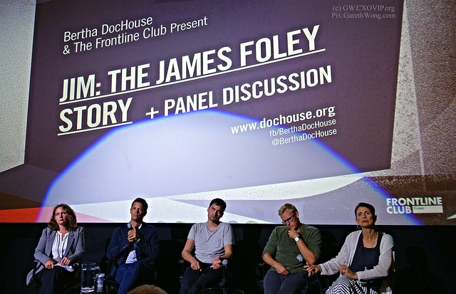 #MustWATCH Jim the movie panelist from RAW _DSC3164 chaired by CPJ's Elisabeth Witchel. Film's director Brian Oakes, James Foley's mother, Diane Foley @dmfaprn, Pierre Torres, Daniel Rye, who were held hostage along w/ James Foley in Syria @goodwitch917
