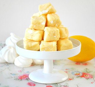 Home made Lemon meringue fudge