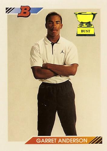 Baseball Card Bust Garret Anderson 1992 Bowman