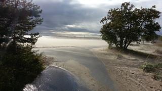 Image of Nallikari near Oulu. beach sand wind oulu tuuli nallikari hiekkaranta