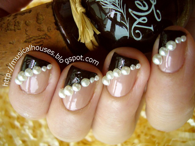 fall winter nail art pearls rimmel beige style megan miller ganache 2