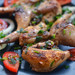 Fried Quail with Tomato and Onion