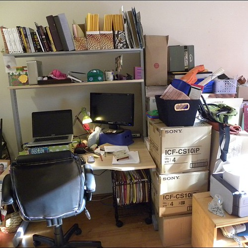 Still disassembling the office. Everything is now in about ten square feet.