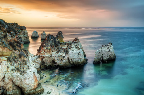 ocean trip travel vacation praia beach portugal sunrise nikon europe algarve hdr prainha photomatix d5000