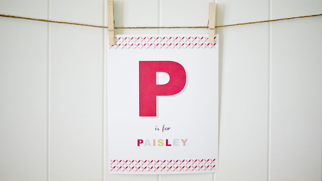 P is for Paisley
