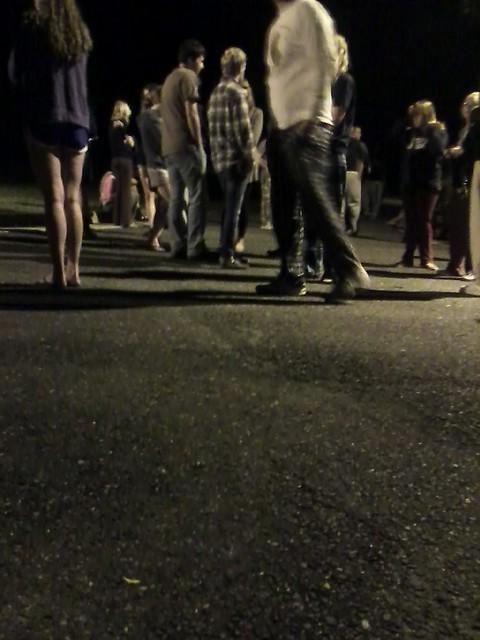 Emphasis on 'sidewalk'