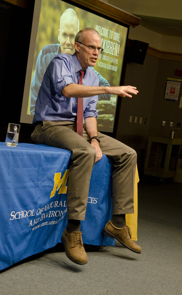 Bill McKibben at SNRE Dana Building 9-14