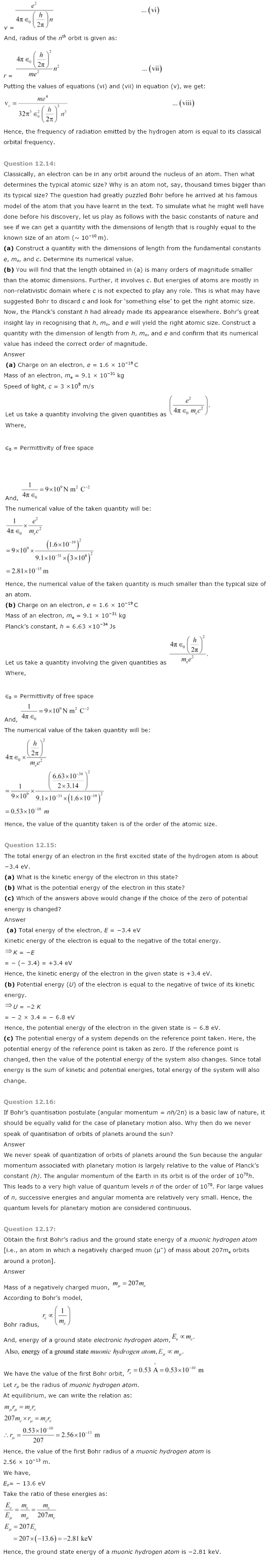 NCERT Solutions for Class 12th Maths