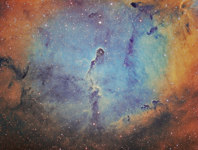 Elephant's Trunk Nebula IC 1396 Hubble Palette