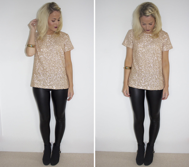 Gold glitter and gold outfit glitter