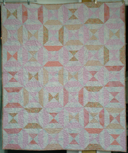 45x54 peach and pink hourglass by Anonymous