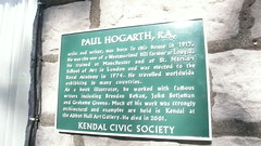 Photo of Paul Hogarth green plaque