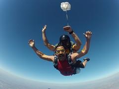 parachute, tandem skydiving, air sports, sports, parachuting, windsports, extreme sport,