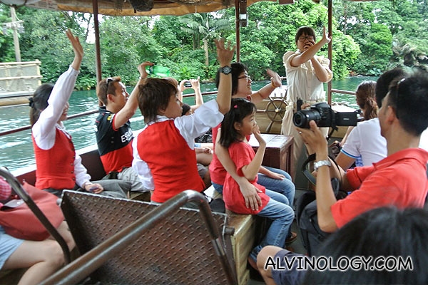 Riding on the Jungle River Cruise