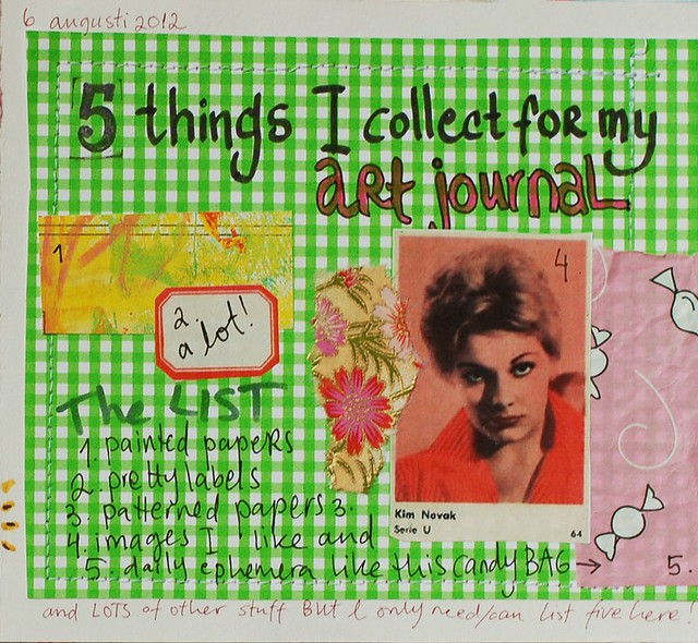 List Journal: things I'm collecting for my art journal