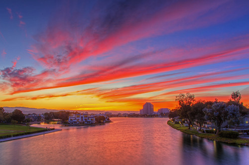 sanfrancisco california ca pink sunset sky usa mountains water canon island evening day cloudy mark iii lagoon 5d bluehour hdr fostercity canoneos5dmarkiii kptripathi canoneos24105f4lis