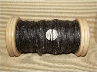 Black Alpaca-Silk, ready to ply