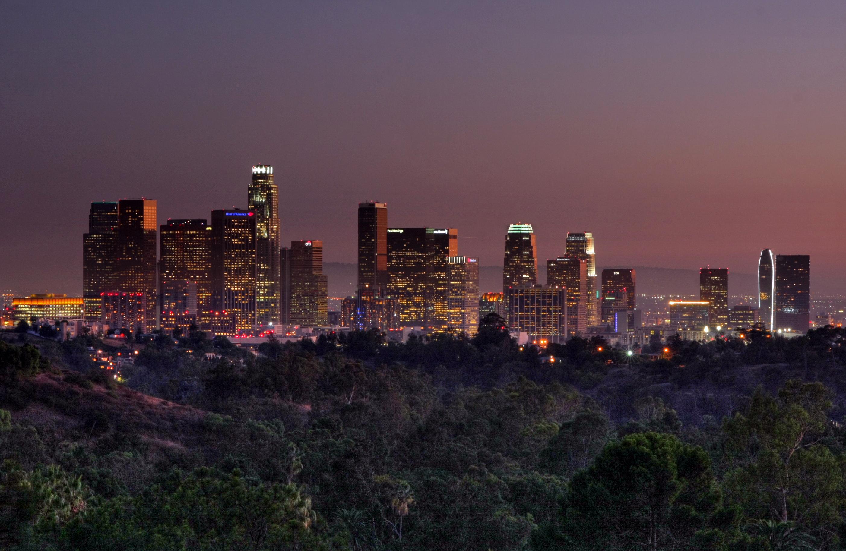 los angeles skyline view - photo #22