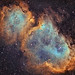 Soul Nebula IC1848 Hubble Palette