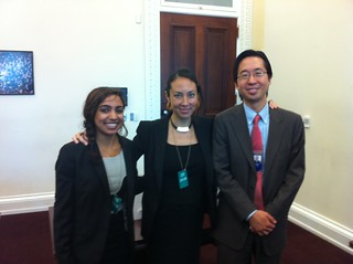 Marisa and Anjum from REV- with White House CTO Todd Park
