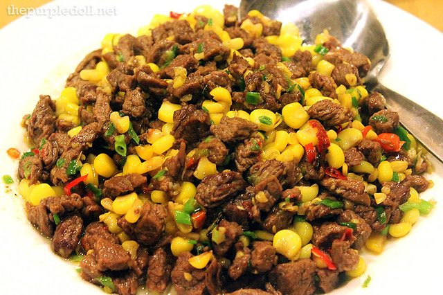 Diced Beef with Corn P220