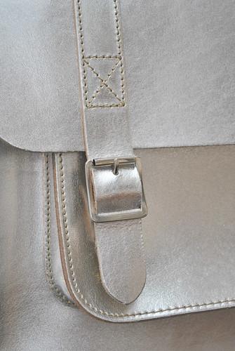 Boho briefcase silver