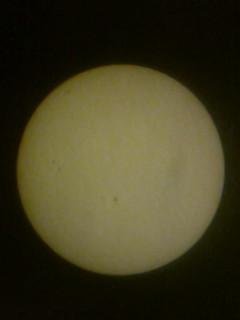 Sunspots using Yellow filter 08012012 11.11AM